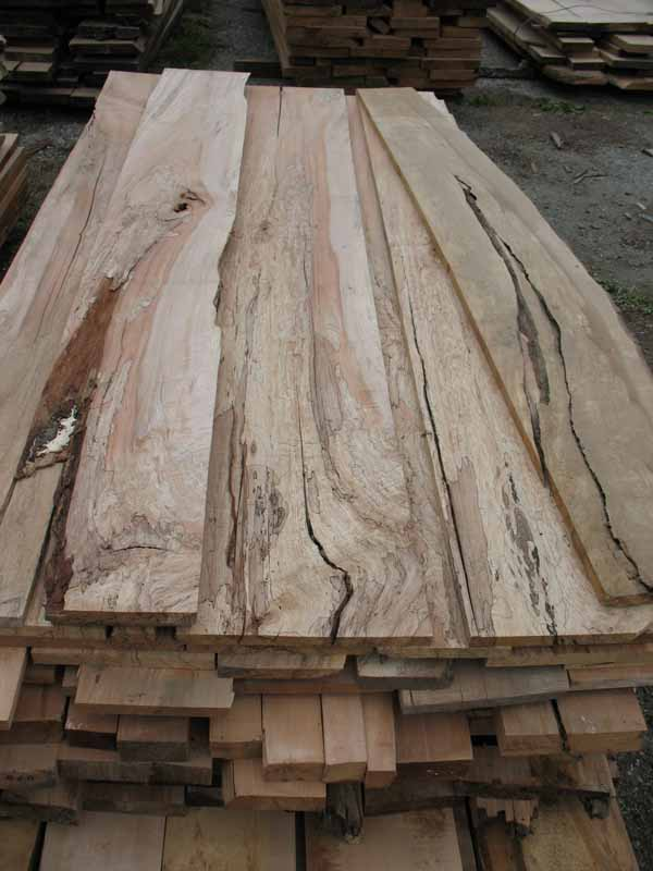 Spalted Figured Maple Live Edge Slabs For Sale At Andy S